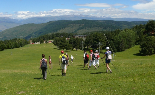 Nordic walking in La Molina